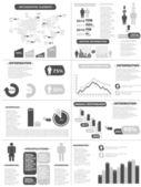 INFOGRAPHIC DEMOGRAPHICS NEW STYLE GREY — Stock Vector