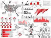 бензин инфографики соединенные штаты америки — Cтоковый вектор