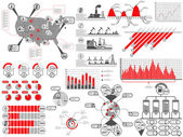 Infographic genetik tıp — Vector de stock