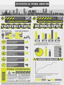 Infographic werk — Stockvector