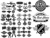 MEGA SET OF VINTAGE LABEL COLLECTION — Stock Vector