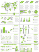 INFOGRAPHIC DEMOGRAPHICS WEB ELEMENTS GREEN — Stock Vector