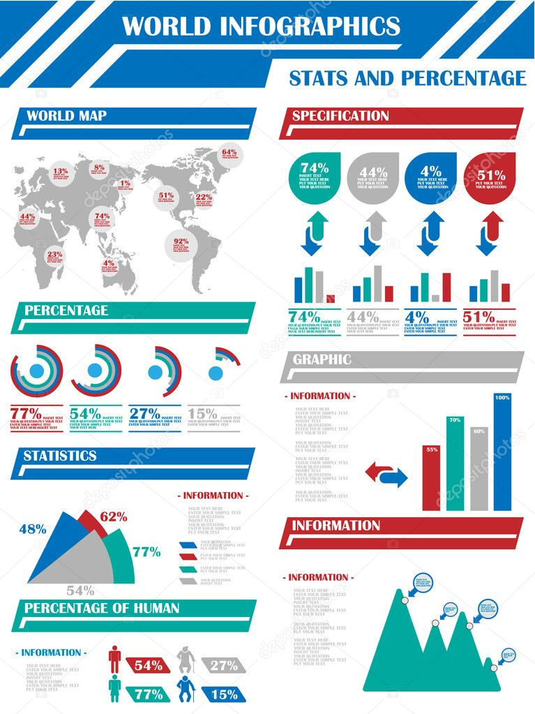 Infographic website statistics