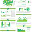 Stock Vector: INFOGRAPHIC DEMOGRAPHICS OF STATES OF AMERICGREEN