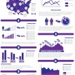 Stock Vector: INFOGRAPHIC DEMOGRAPHICS OF STATES OF AMERICPURPLE