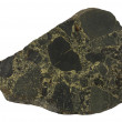 Basaltic breccia with green epidote — Stock Photo