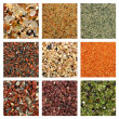 Collage of colorful sand samples — Stock Photo #11825626