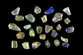 Natural sapphire crystals — Stock Photo