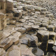 Stock Photo: Giant's Causeway columnar basalt