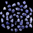 Sodalite sand grains from Namibia — Stock Photo