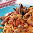 Spaghetti with seafoods — Stock Photo #11741002