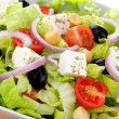 Stock Photo: International green salad whit tomato end feta