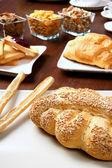 International breakfast — Stock Photo