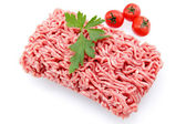 Ground beef on white background — Stock Photo
