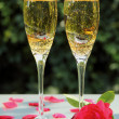 Champagne and rose — Stock Photo #11943764