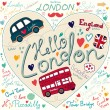 Set of London symbols — Stock Vector #11956277