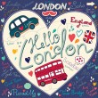 Vector set of London symbols — Stock Vector #11956288
