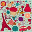 Vector set of Paris symbols. — Stock Vector #11958904