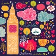 Set of London symbols - Image vectorielle