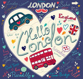 Vector set of London symbols — Stock Vector