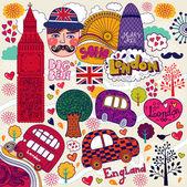 Wektor zestaw symboli londyn — Wektor stockowy
