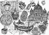 A set of italian symbols — Stock Photo