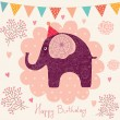 Holiday card with elephant — Stock Vector #11963025