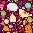 Autumn seamless pattern - Image vectorielle