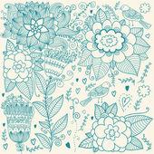 Floral background — Vecteur