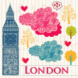 Stock Vector: Vector set of London symbols