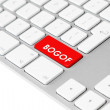 Royalty-Free Stock Photo: Computer keyboard with red BOGOF button