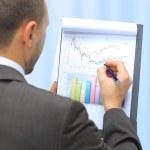 контроль графов фондового рынка — Стоковое фото #11811341