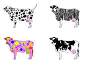 Mutated cows — Stock Vector