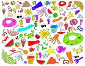Summer kids stuff — Stock Vector