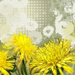 Royalty-Free Stock Imagem Vetorial: Background with yellow and white dandelions
