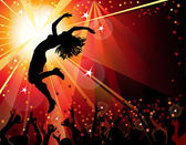 Dancing girl in the nightclub — Stock Vector