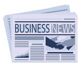 Business newspaper — Stock Vector
