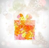 Presente de natal com símbolos diferentes — Vetor de Stock