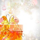 рождественский подарок с различными символами — Cтоковый вектор