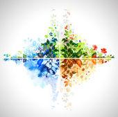 光栅版本的组的四个季节横幅 — 图库矢量图片