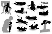 Twelve child's images — Wektor stockowy