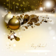 Glimmered Christmas background with evening balls — Stock Vector
