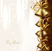 Festive bells on the Christmas background — Stock Vector