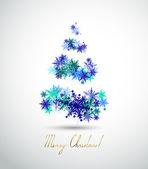与抽象杉木树和冬天雪花圣诞背景 — 图库矢量图片