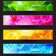 Headers set of four color banners of the abstract — Stockvectorbeeld