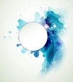 Abstracte achtergrond met blauwe elementen — Stockvector