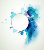 Abstraktní pozadí s modrými prvky — Stock vektor