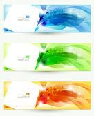 Set of three banners, abstract headers — Stockvektor
