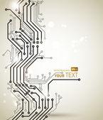最新のデジタル テクノロジーの抽象的な背景 — ストックベクタ