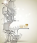 Abstracte achtergrond van moderne digitale technologieën — Stockvector